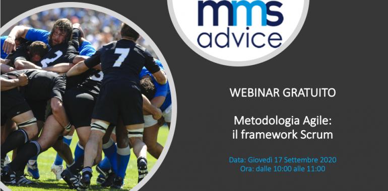 "Webinar ""Metodologia Agile: il framework Scrum"" 17 Settembre 2020"
